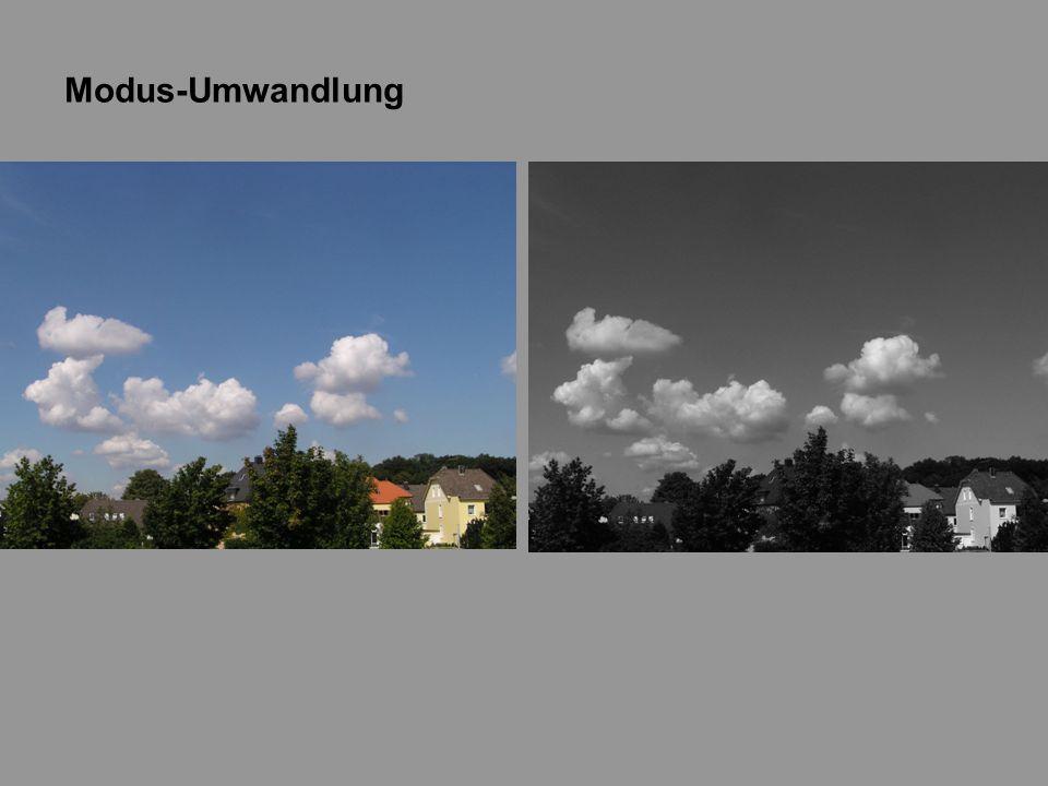 Sättigung verringern 1) farbiges Foto öffnen 2) Bild => Anpassen => Sättigung verringern Es entsteht sofort ein SW-Bild.
