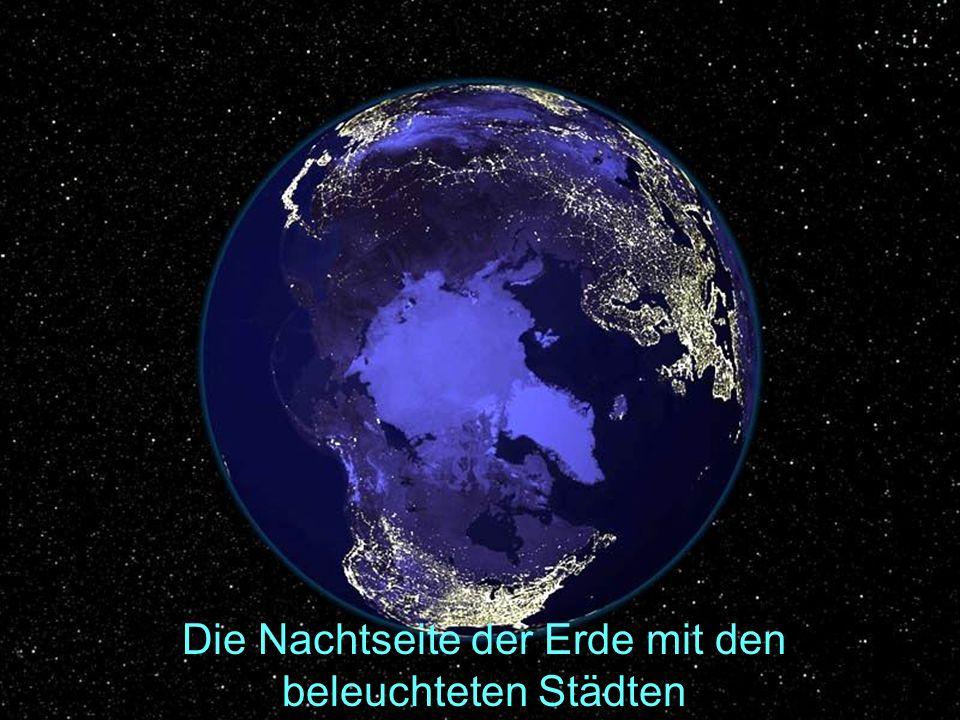 Die Nachtseite der Erde mit den beleuchteten Städten