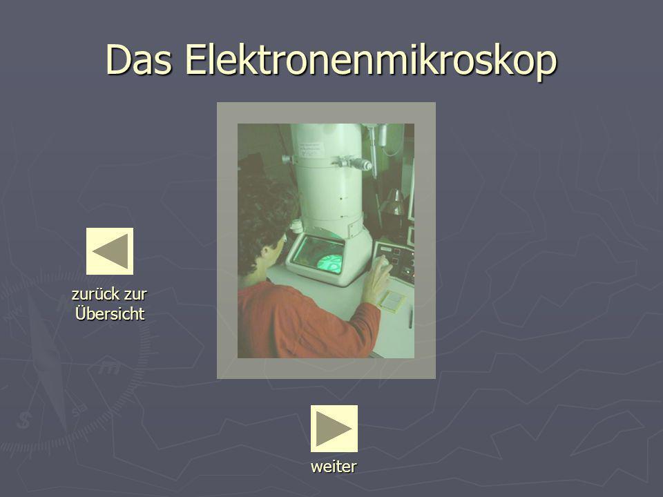 Das Elektronenmikroskop weiter zurück zur Übersicht zurück zur Übersicht