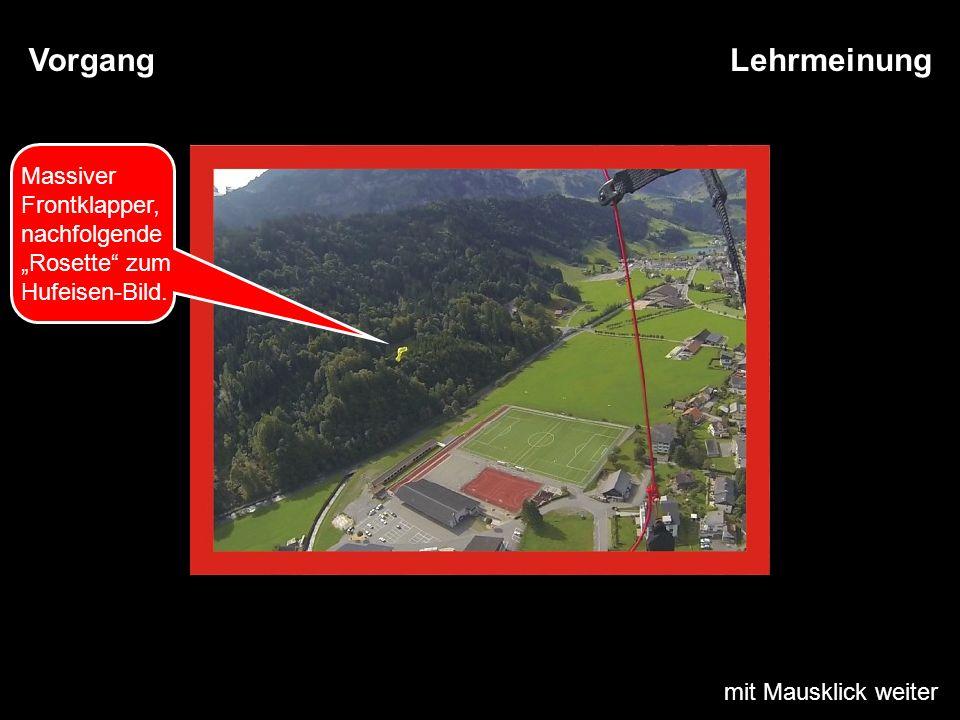 mit Mausklick weiter LehrmeinungVorgang Massiver Frontklapper, nachfolgende Rosette zum Hufeisen-Bild.