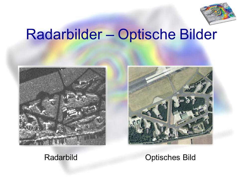 Radarbilder – Optische Bilder RadarbildOptisches Bild