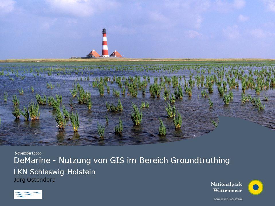 LKN | Nationalparkverwaltung | 2009 DeMarine - Nutzung von GIS im Bereich Groundtruthing LKN Schleswig-Holstein Jörg Ostendorp November l 2009