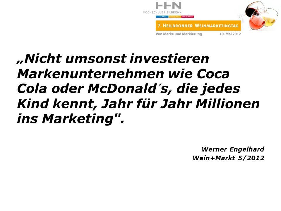 Nicht umsonst investieren Markenunternehmen wie Coca Cola oder McDonald´s, die jedes Kind kennt, Jahr für Jahr Millionen ins Marketing