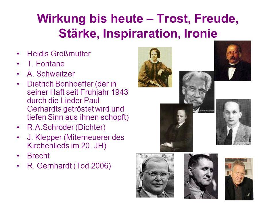 Wirkung bis heute – Trost, Freude, Stärke, Inspiraration, Ironie Heidis Großmutter T.