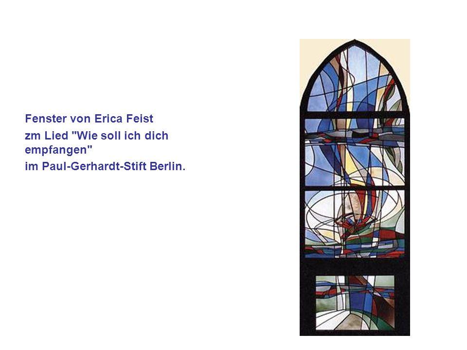 Fenster von Erica Feist zm Lied Wie soll ich dich empfangen im Paul-Gerhardt-Stift Berlin.
