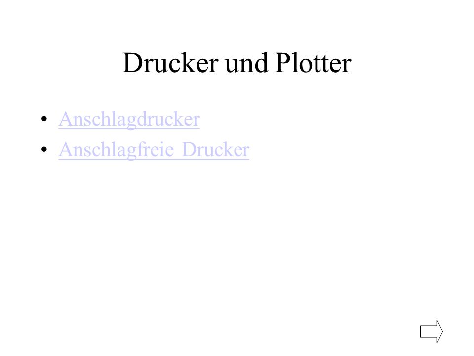 Drucker und Plotter Anschlagdrucker Anschlagfreie Drucker