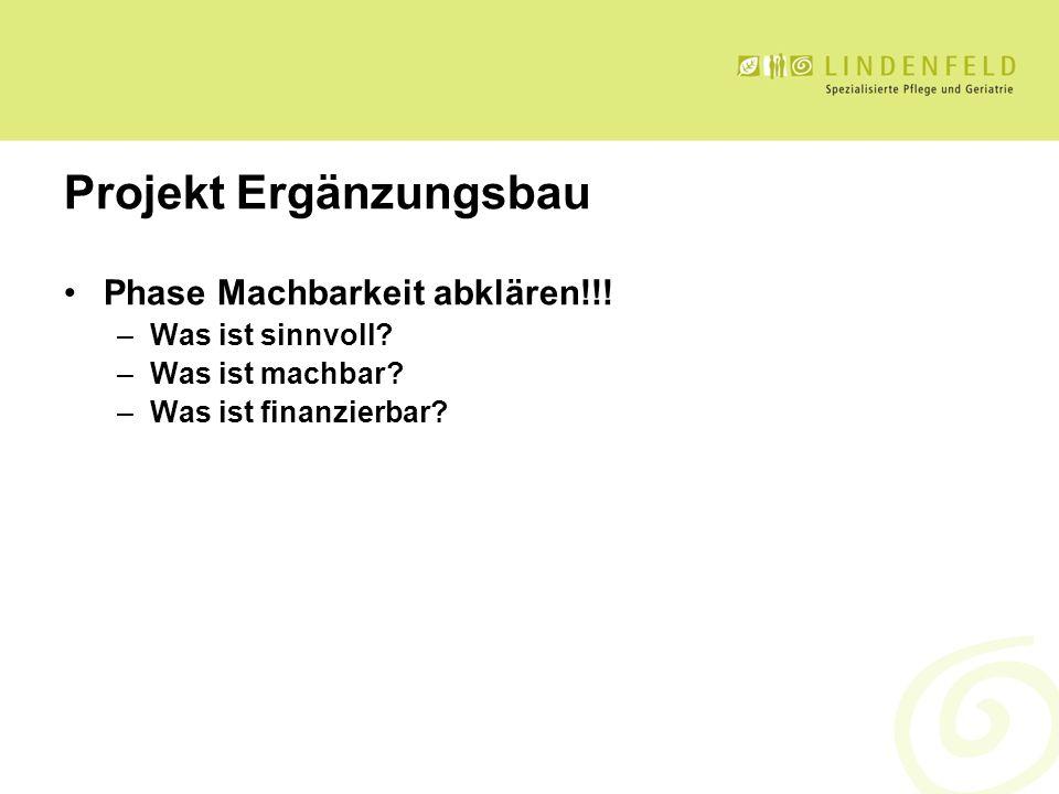 Projekt Ergänzungsbau Phase Machbarkeit abklären!!.
