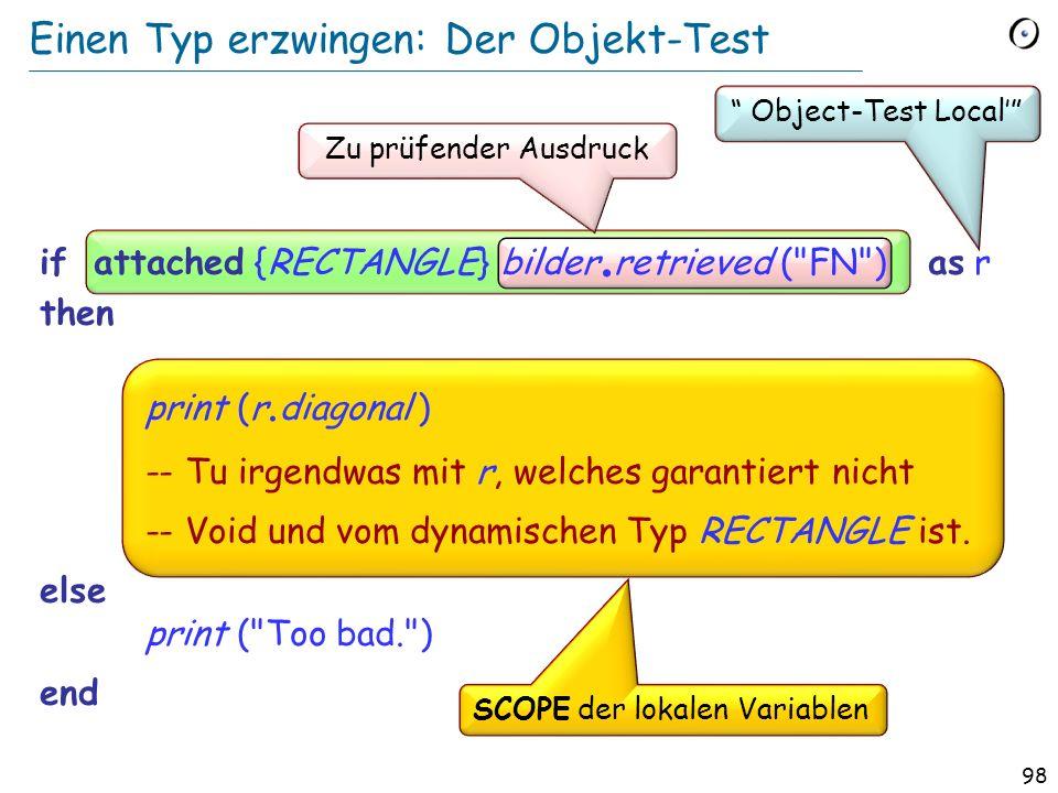 97 Einen Typ erzwingen: Das Problem bilder. store (FN )...
