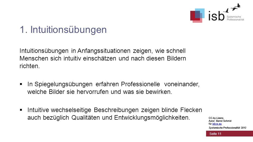 CC-by-Lizenz, Autor: Bernd Schmid für isb-w.euisb-w.eu Systemische Professionalität 2013 Seite 11 1.