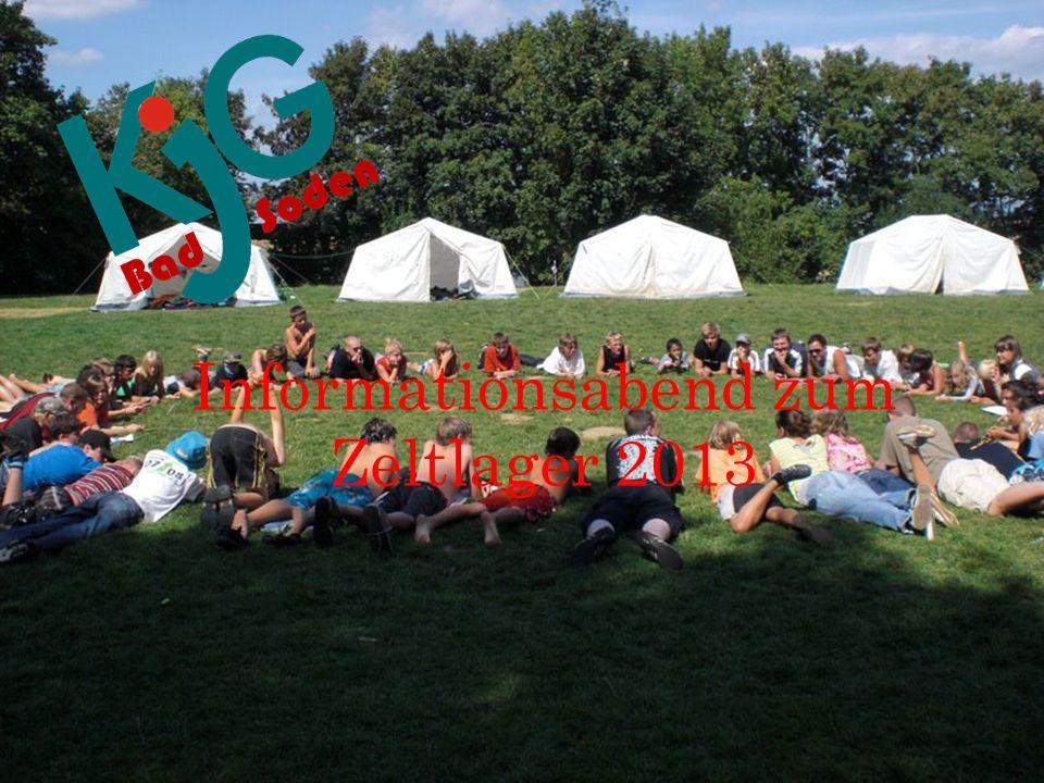 Informationsabend zum Zeltlager 2013