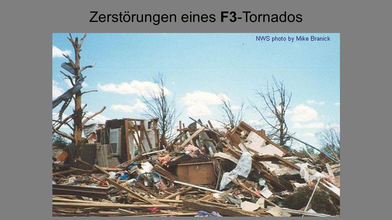 Die Fujita-Skala dient der Schadensklassifi- kation für Starkwinderschei- nungen wie Tornados.