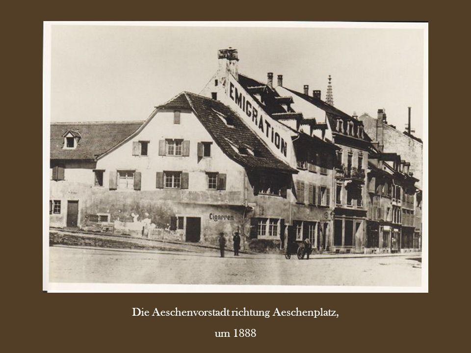 Die Aeschenvorstadt richtung Aeschenplatz, um 1888