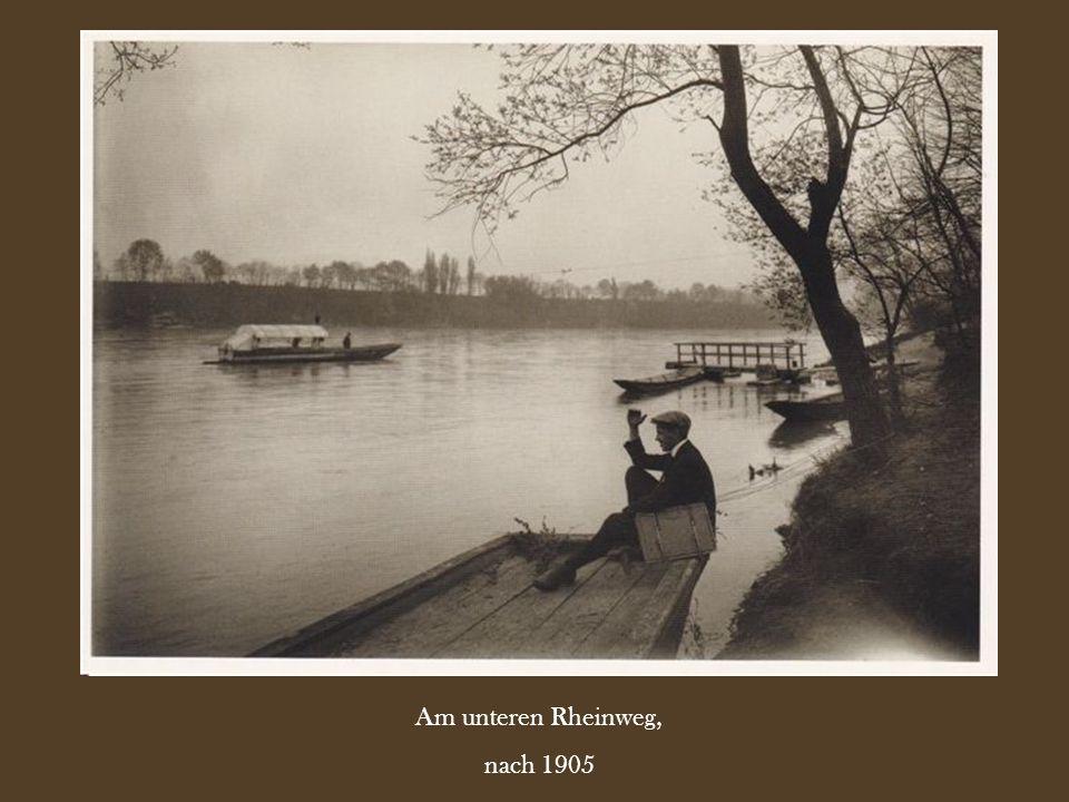 Am unteren Rheinweg, nach 1905
