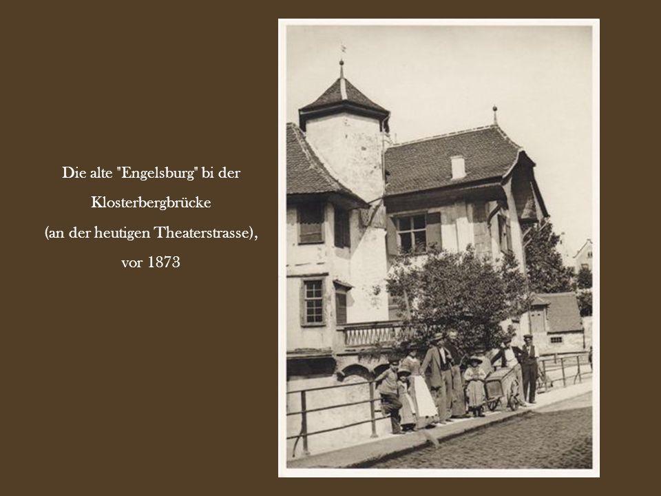 Die Speisewirtschaft Zum Tellsbrunnen an der Aeschenvorstadt 25, vor 1900