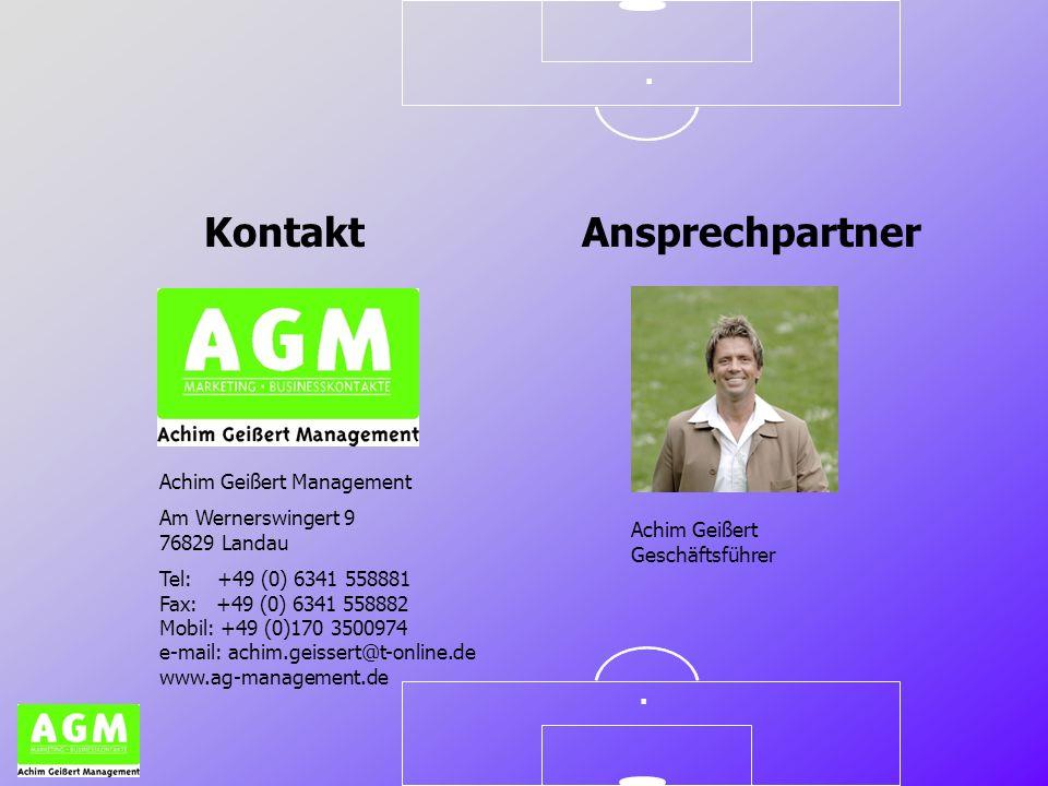 .. Kontakt Achim Geißert Management Am Wernerswingert 9 76829 Landau Tel: +49 (0) 6341 558881 Fax: +49 (0) 6341 558882 Mobil: +49 (0)170 3500974 e-mai