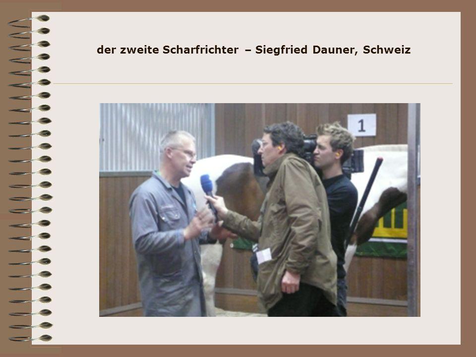 der zweite Scharfrichter – Siegfried Dauner, Schweiz