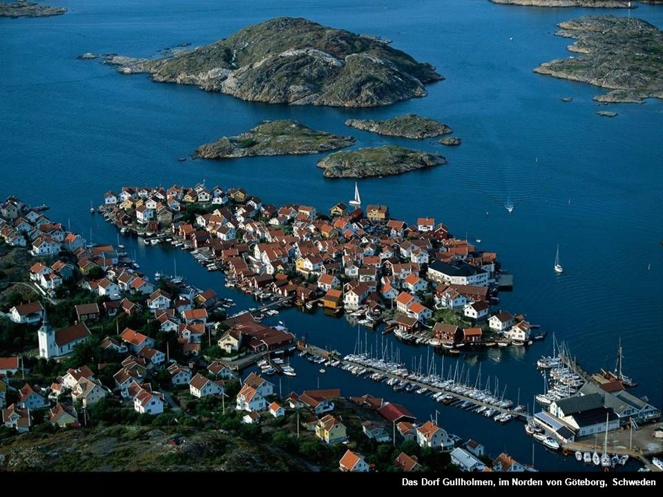 Das Dorf Gullholmen, im Norden von Göteborg, Schweden