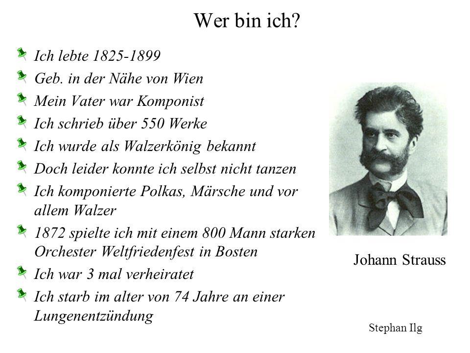 -ich lebte 1895-1963 -habe klassische Musik gespielt -geb. Hanau, gest. Frankfurt/Main -Zivilstand:verheiratet -meine Lieder wurden nach dem Kriegsaus