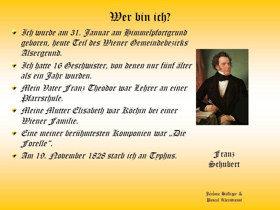 Wer bin ich? Ich lebte 1732 -1809 Geb. in Niederösterreich Ich wurde als 8-Jähriger in die Chorschule des Wiener Stephansdomes aufgenommen, Ich verdie