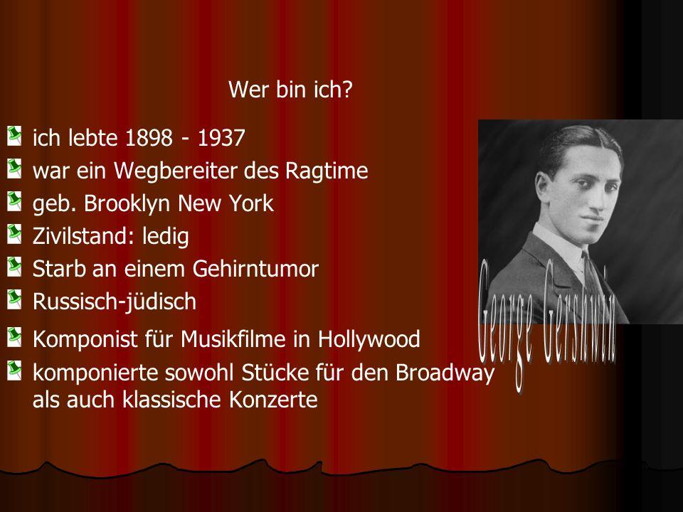 Ich lebte 15.6.1843 - 4.9.1907 Geb. in den westnorwegischen Bergen Mein Vater war ein wohlhabender Kaufmann Meine Mutter war Pianistin und Dichterin A