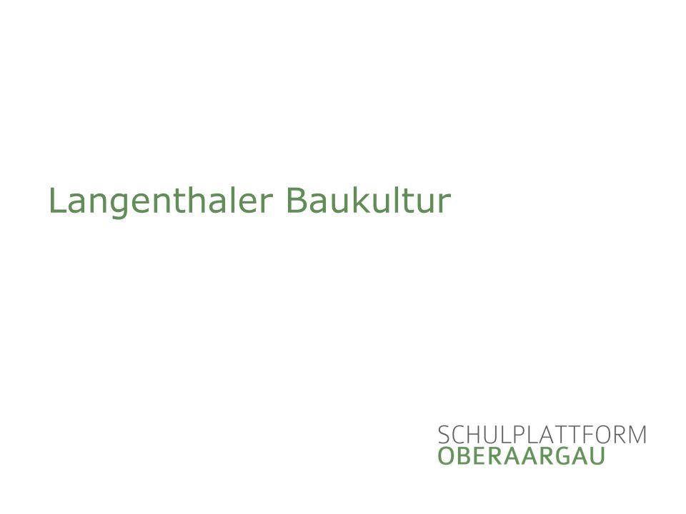 Langenthaler Baukultur Das Wirken von Hector Egger (1880-1956) In Langenthal
