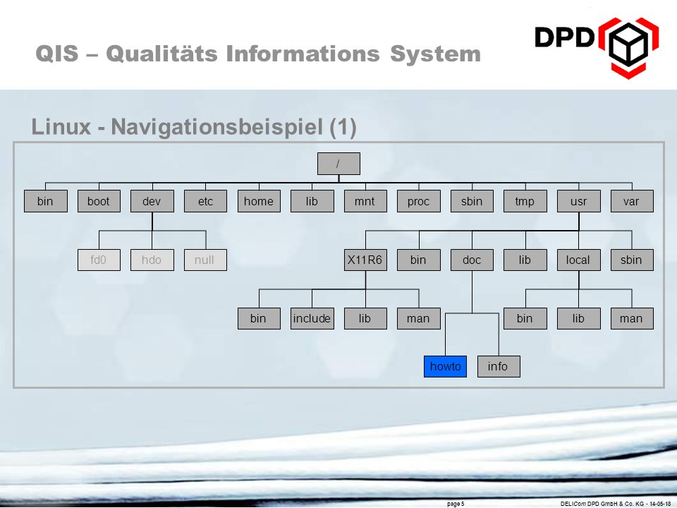 QIS – Qualitäts Informations System page 5 DELICom DPD GmbH & Co.