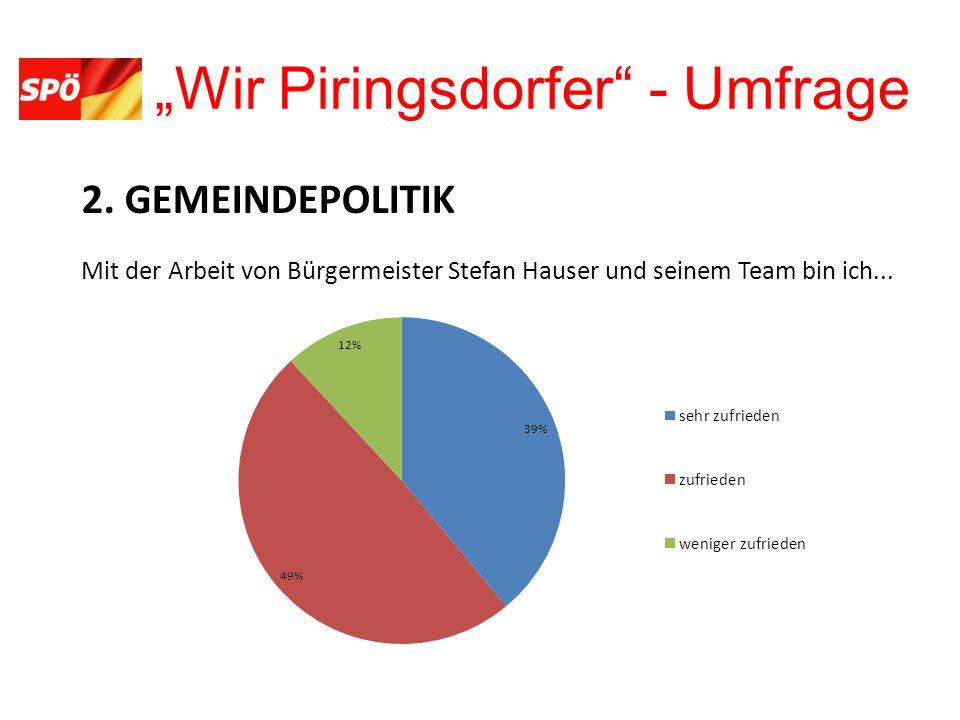 Wir Piringsdorfer - Umfrage 11. SICHERHEIT Wie sicher fühlen Sie sich in Piringsdorf?