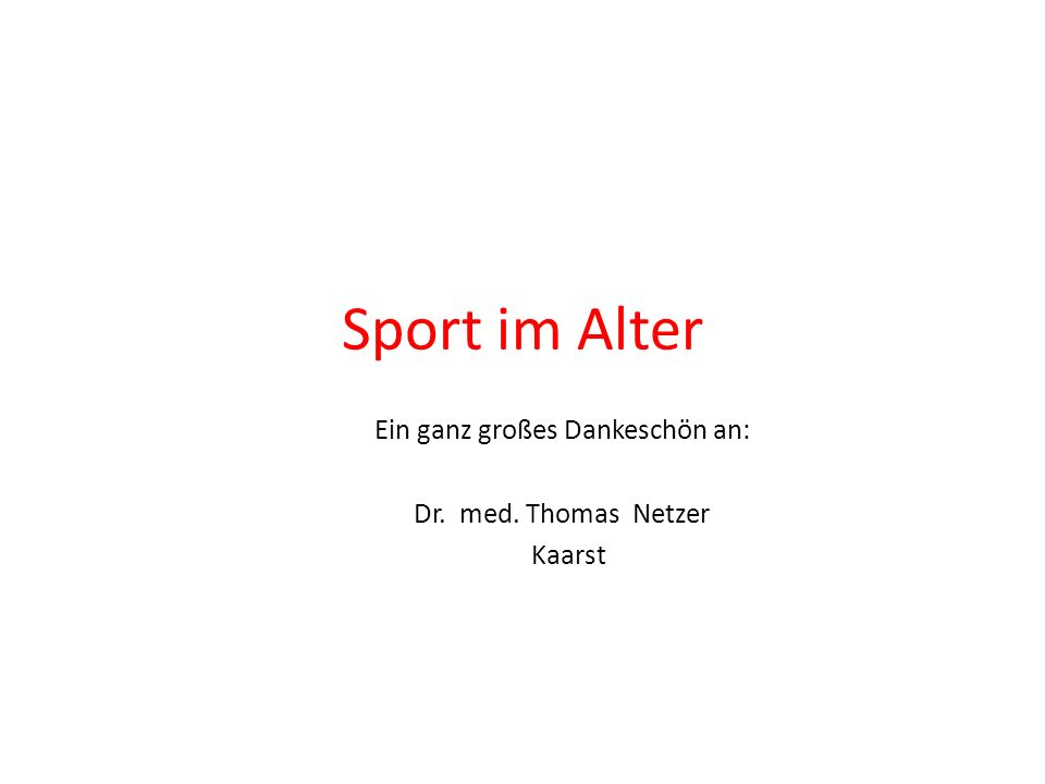Leben ohne Sport... ist Selbstmord