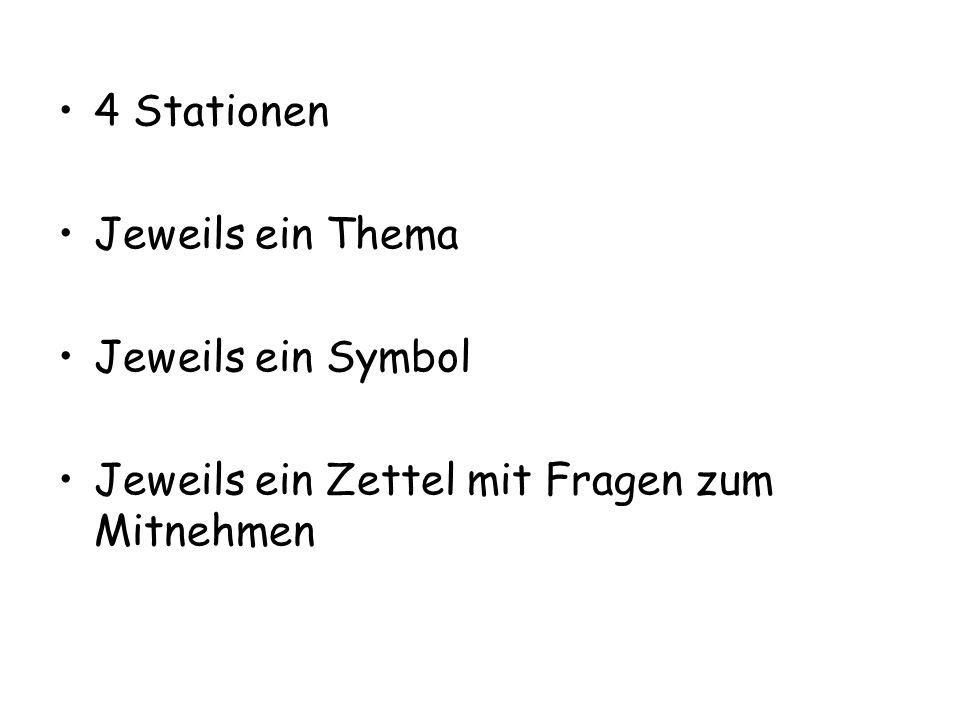 Station 1 – Schule, Freunde – Symbol Steine: Ich lebe nicht alleine.