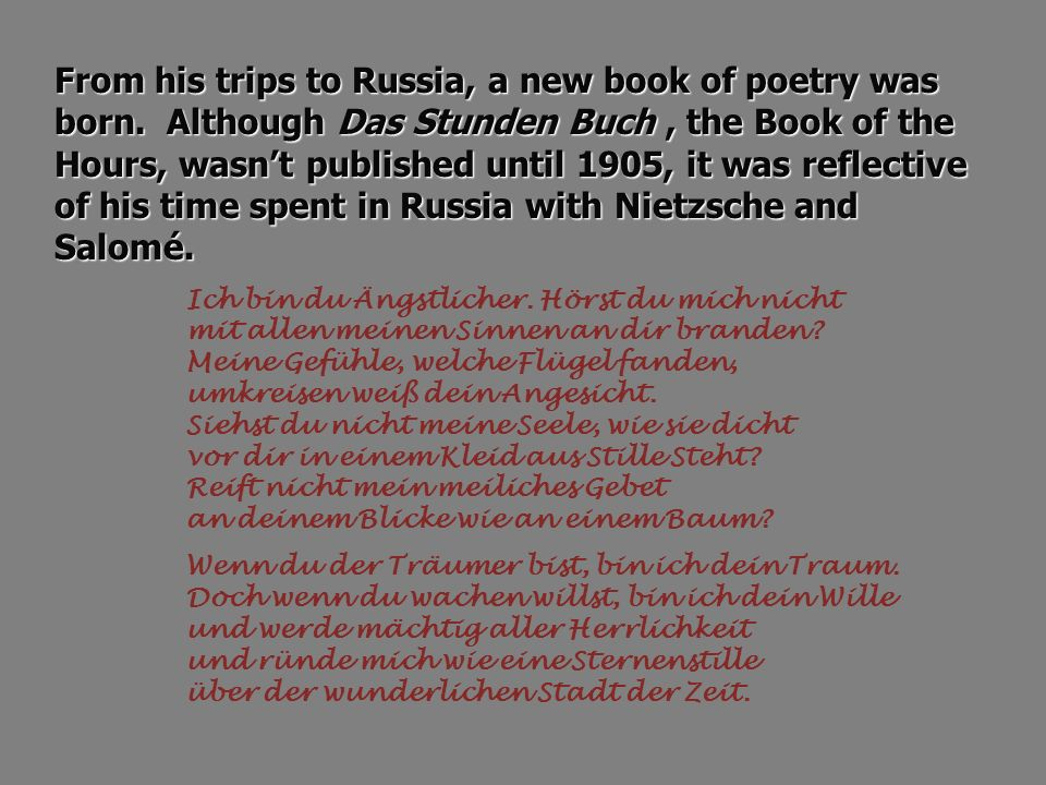 From his trips to Russia, a new book of poetry was born.