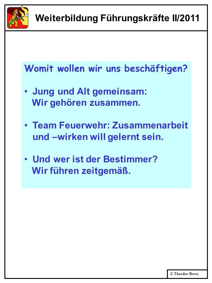 © Theodor Bross Führung = Leitung FwDV 100, 2.1 gesamtverantwortliches Handeln