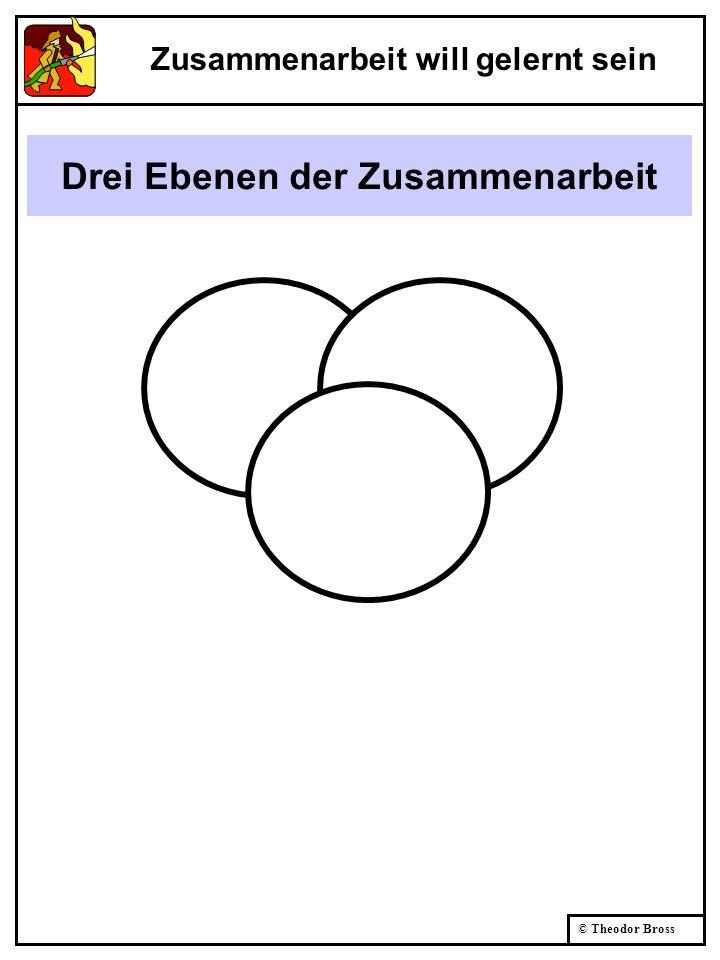 © Theodor Bross Drei Ebenen der Zusammenarbeit Zusammenarbeit will gelernt sein