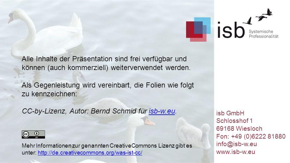 Alle Inhalte der Präsentation sind frei verfügbar und können (auch kommerziell) weiterverwendet werden. Als Gegenleistung wird vereinbart, die Folien