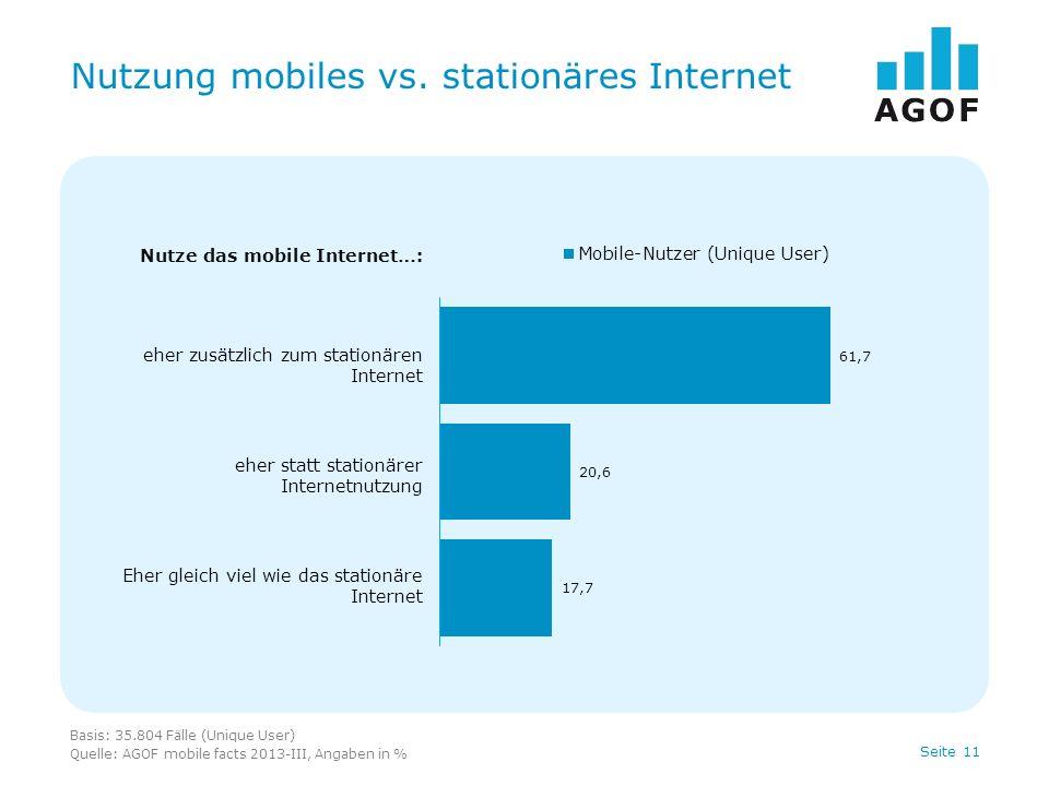 Seite 11 Nutzung mobiles vs.