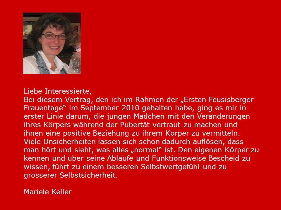 Liebe Interessierte, Bei diesem Vortrag, den ich im Rahmen der Ersten Feusisberger Frauentage im September 2010 gehalten habe, ging es mir in erster L