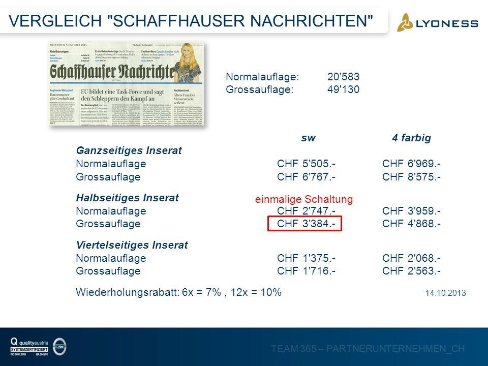 TEAM 365 – PARTNERUNTERNEHMEN_CH VERGLEICH