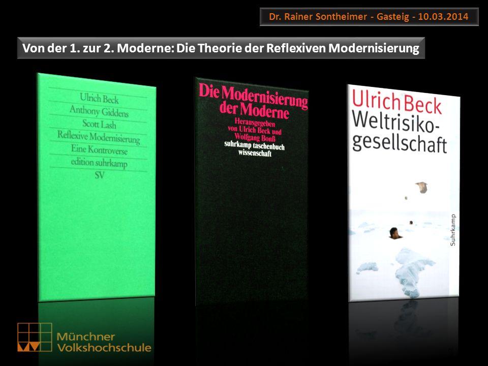 Dr. Rainer Sontheimer - Gasteig - 10.03.2014 Von der 1. zur 2. Moderne: Die Theorie der Reflexiven Modernisierung