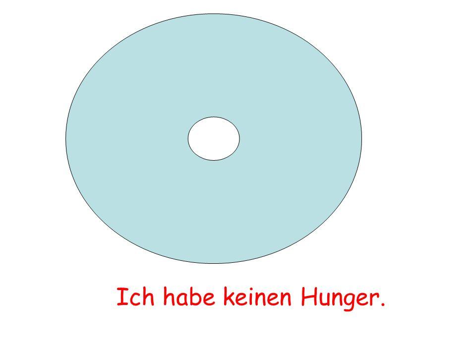 Ich habe keinen Hunger.