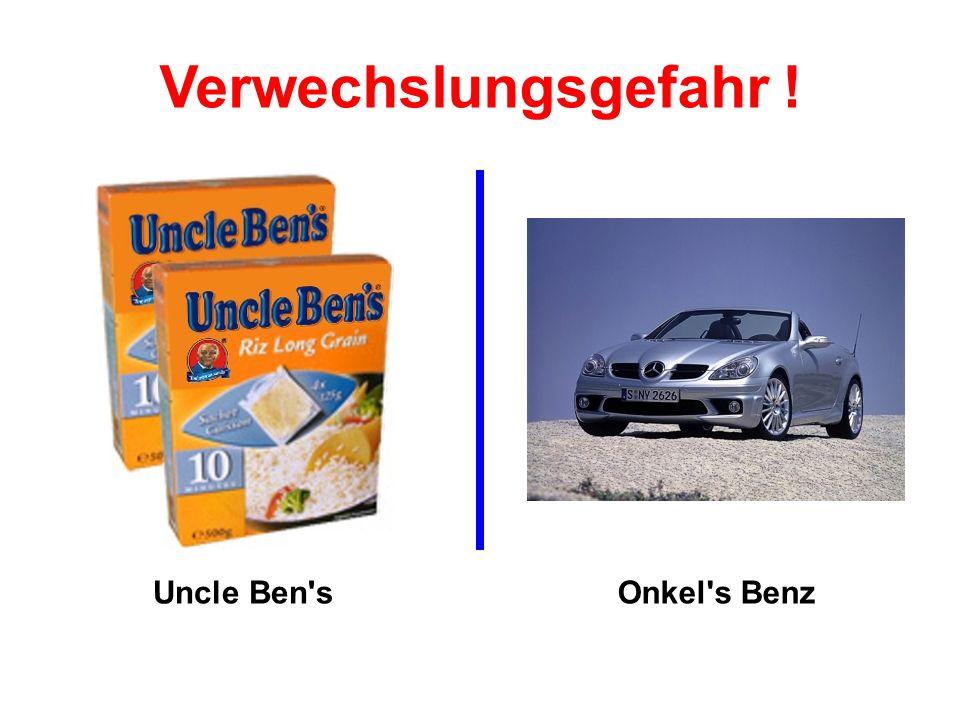 Uncle Ben sOnkel s Benz Verwechslungsgefahr !