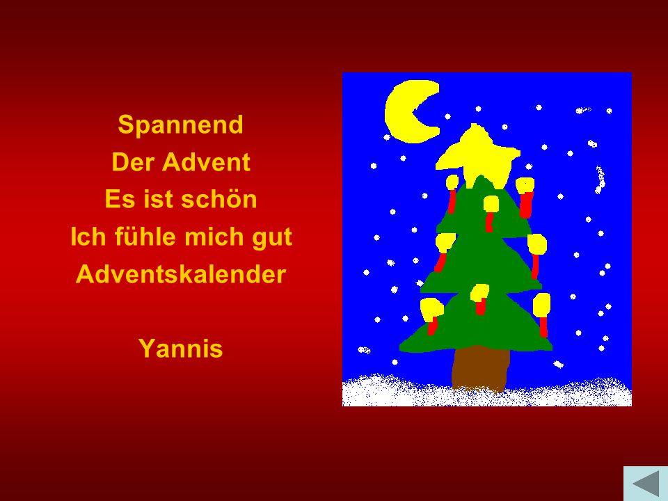 Spannend Der Advent Es ist schön Ich fühle mich gut Adventskalender Yannis
