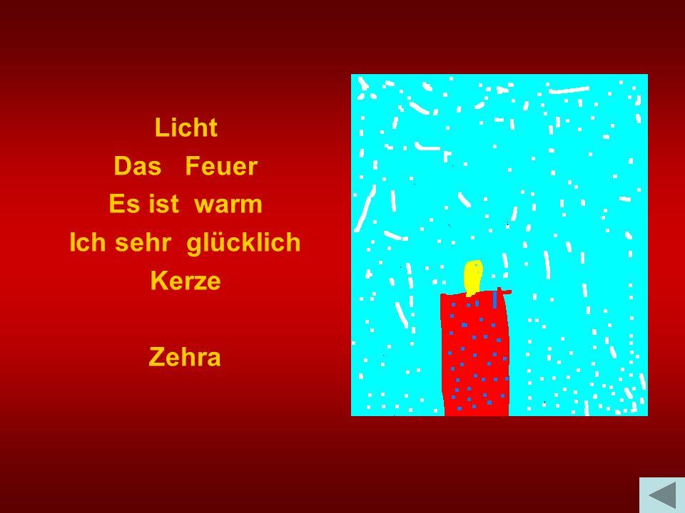 Licht Das Feuer Es ist warm Ich sehr glücklich Kerze Zehra