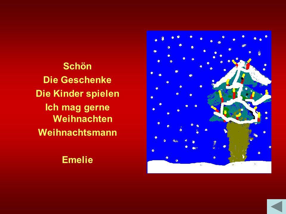 Schön Die Geschenke Die Kinder spielen Ich mag gerne Weihnachten Weihnachtsmann Emelie