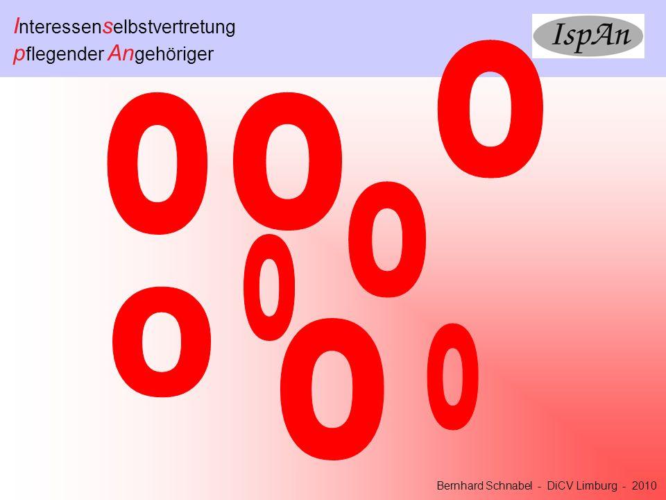 I nteressen s elbstvertretung p flegender An gehöriger Bernhard Schnabel - DiCV Limburg - 2010