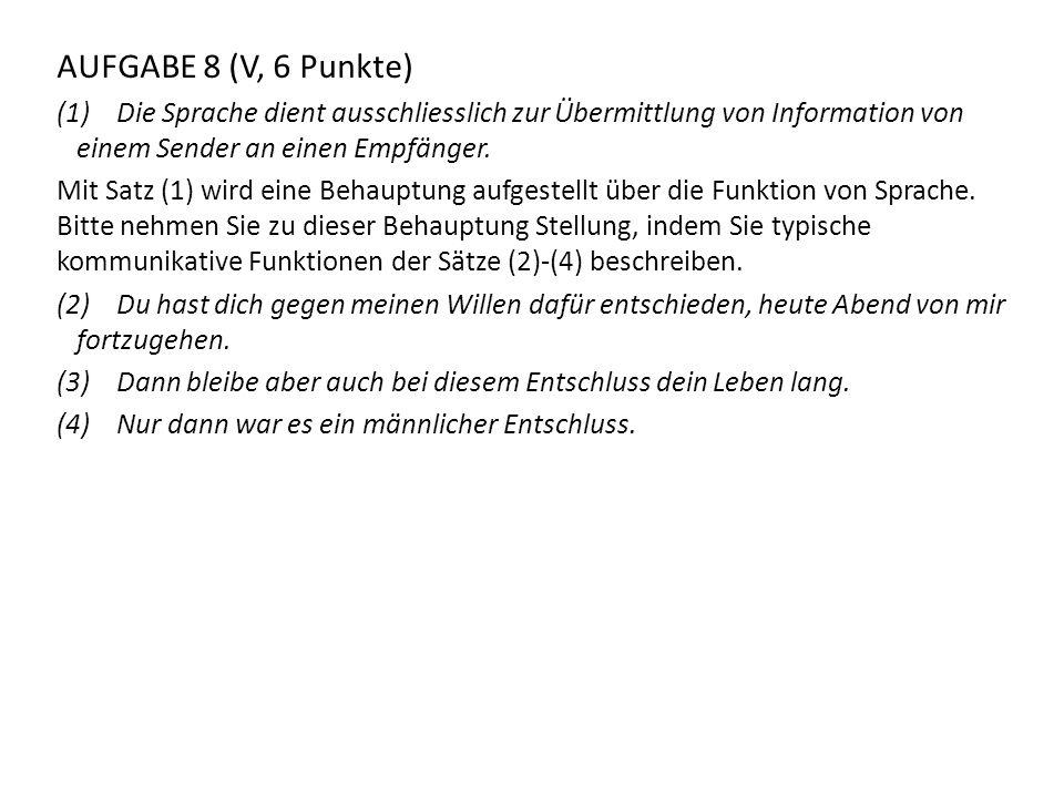 AUFGABE 1 (V, 6 Punkte) Hier sehen Sie eine Tabelle, die Phoneme durch Distinctive Features und ihre Werte (+ oder -) charakterisiert.