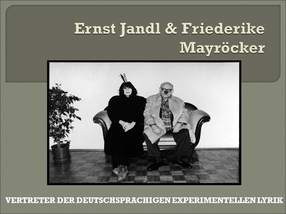 Friederike Mayröcker.Requiem für Ernst Jandl. Suhrkamp, Frankfurt am Main 2001, ISBN 3-518-412167.