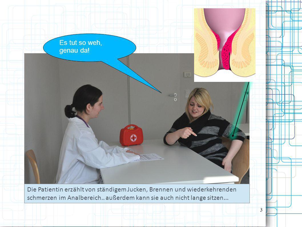 Frau Wartha Ist zwar noch etwas geschockt von der Diagnose, lässt sich aber von der Ärztin überzeugen, dass die Operation nötig ist.