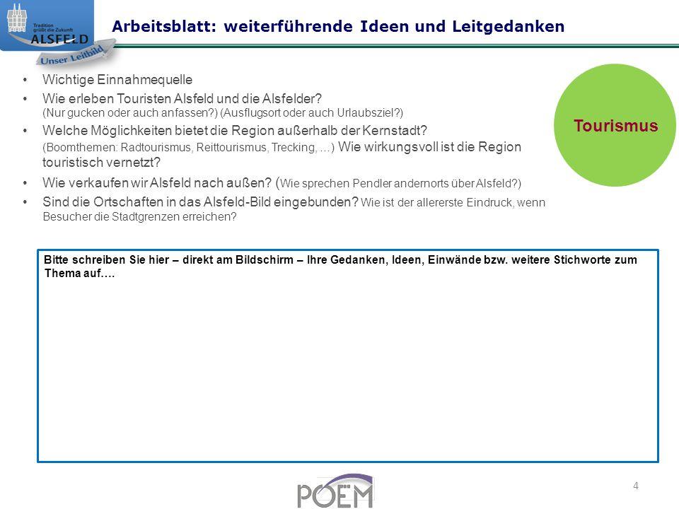 Wichtige Einnahmequelle Wie erleben Touristen Alsfeld und die Alsfelder.