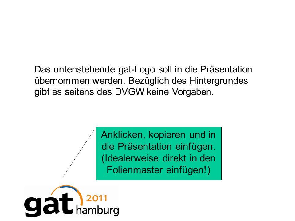 Das untenstehende gat-Logo soll in die Präsentation übernommen werden.