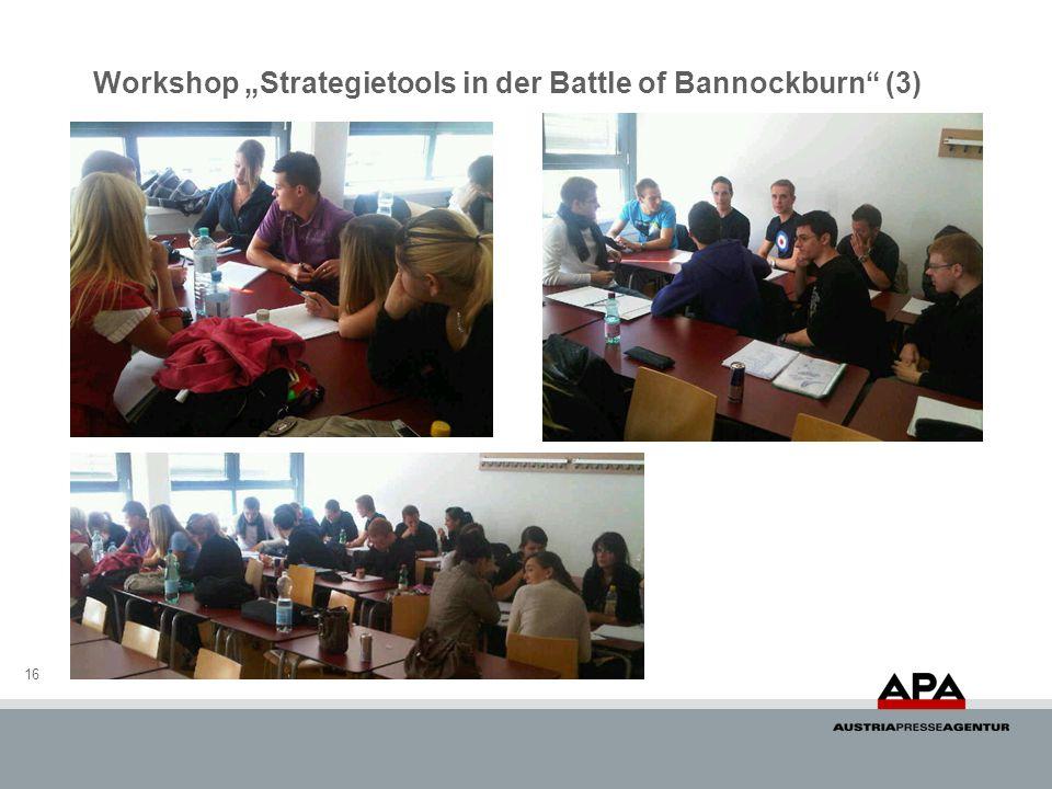 Workshop Strategietools in der Battle of Bannockburn (3) 16