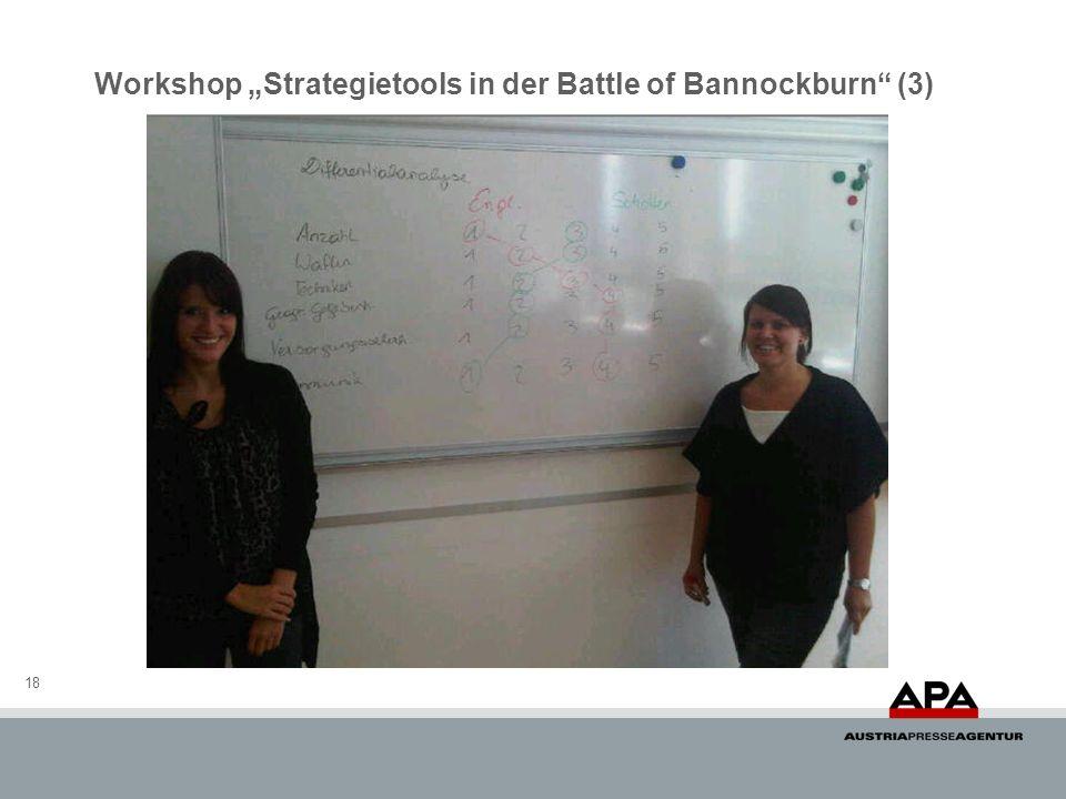 18 Workshop Strategietools in der Battle of Bannockburn (3)